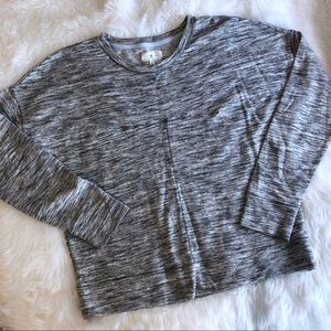 Lou & Grey • Grey Heathered Pullover Sweater